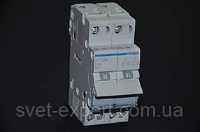 Перемикач I-0-II із загальним виходом зверху, 2-пол., 25А / 230В Хагер SFT225