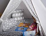 Детская палатка, хлопковый вигвам для детей, шалаш для деток, палатка для детей БЕЗ коврика и подушек, фото 2