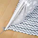 Детская палатка, хлопковый вигвам для детей, шалаш для деток, палатка для детей БЕЗ коврика и подушек, фото 4