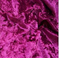 Ткань бархат мраморный - цвет малиновый