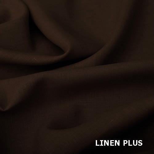 Коричневая 100% льняная ткань, цвет 551