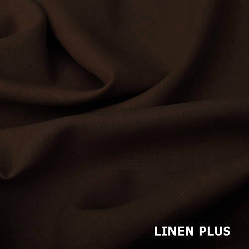 Коричневая льняная ткань, 100% льна, цвет 551