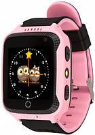 Детские умные GPS часы UWatch Q529 с камерой и фонариком розовый