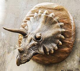 Голова трицератопса - настенный декор