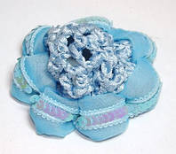 Резинка для волос, голубой 144_7_2a3