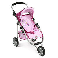 Прогулочная коляска для кукол Bayer Chic Lila Rosa