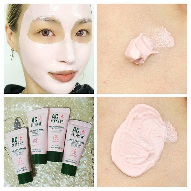 AC Clean Up Pink Powder Mask Sample