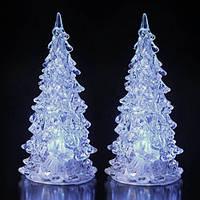 Новогодняя елка со светодиодами, белая