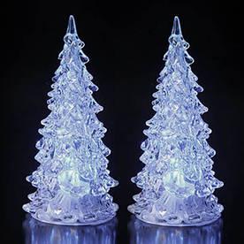 Новогодняя елка со светодиодами, белая 2шт/уп
