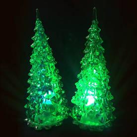 Новогодняя елка со светодиодами, зеленая 2шт/уп