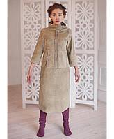 Дизайнерское флисовое платье