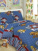 Комплект детского постельного белья полутораспальный  Щенячий патруль