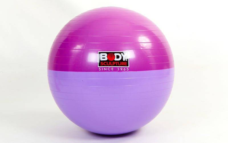 Мяч для фитнеса SOLEX гладкий двухцветный 65см