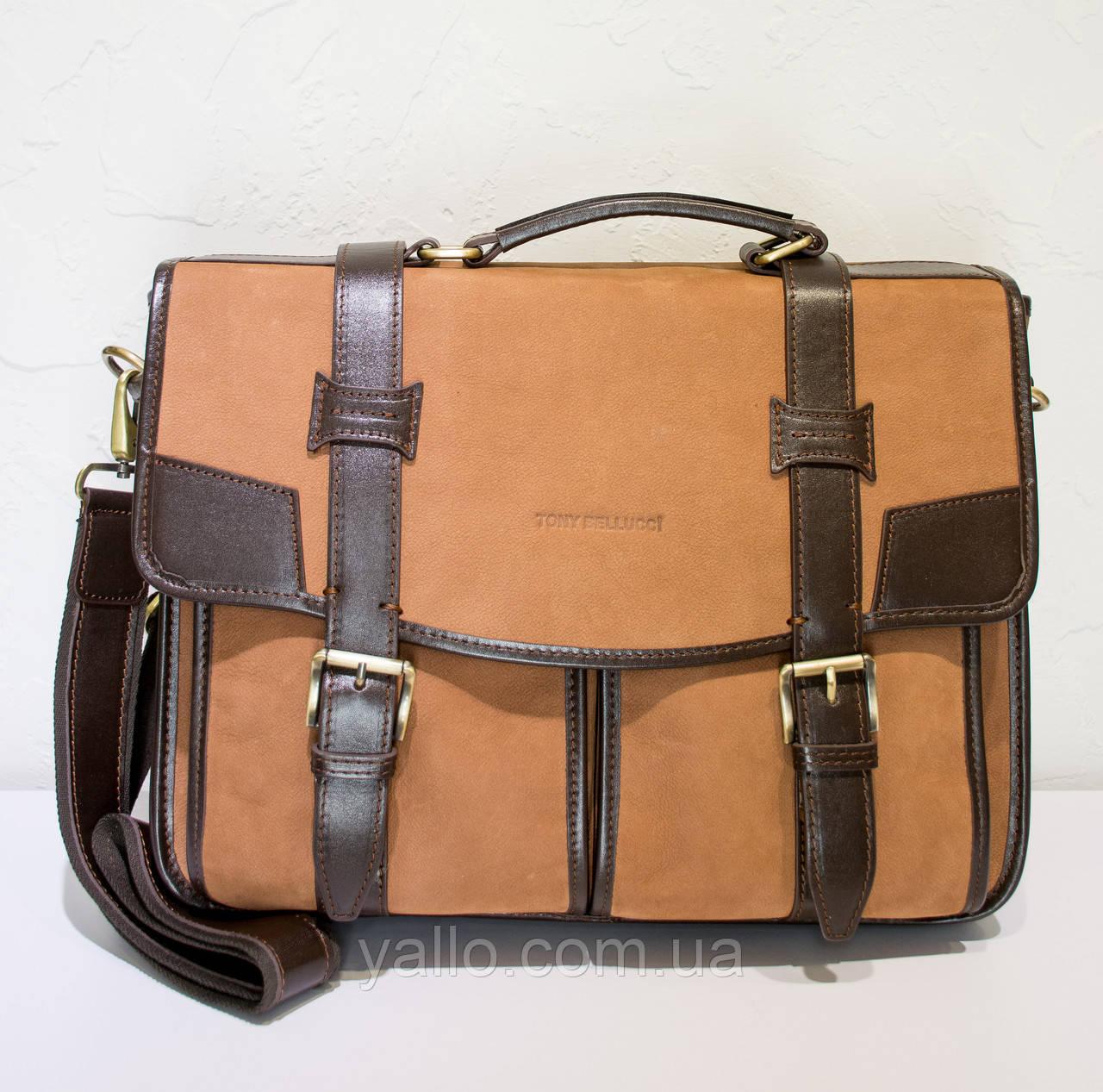 Натуральная кожаная сумка для мужчин Tony Bellucci T5123-400