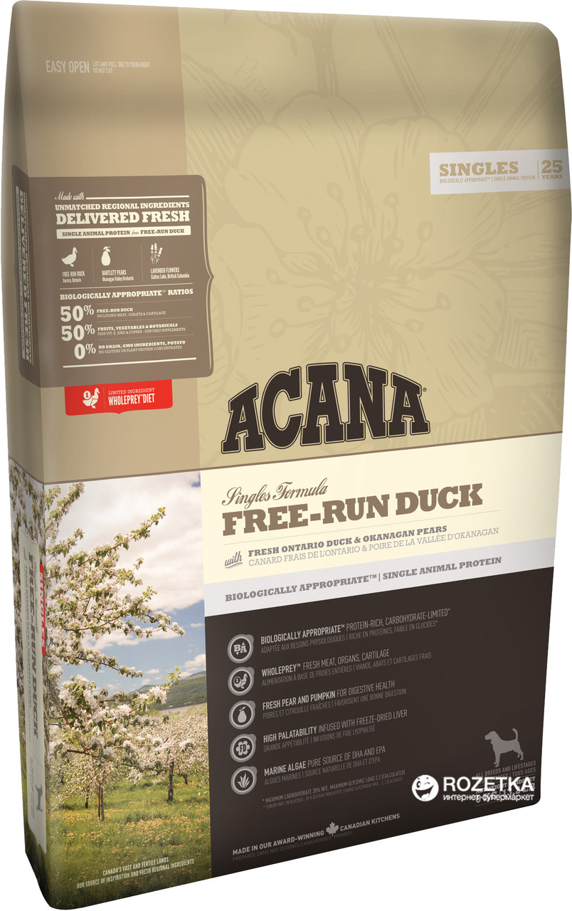 Корм для собак ACANA FREE-RUN DUCK  340г