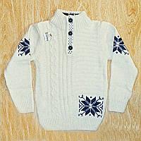 Теплый детский свитер с горлом для мальчиков - Feel