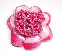 Резинка для волос, розовый с малиновым 144_7_1a1