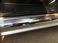 Накладки на пороги хром Renault Trafic