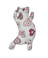 Декоративная подушка кот сердечко