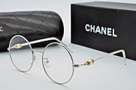 Круглая оправа женская для очков Chanel в серебре