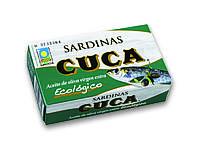 Органическая сардина в масле, Cuca,120 гр
