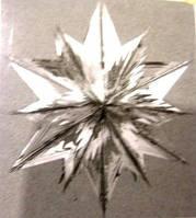 Снежинка подвесная объёмная серебристая 60 см
