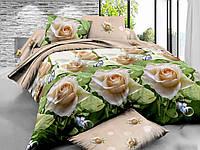 Комплект постельного белья полуторный, ранфорс 100% хлопок. Постільна білизна. (арт.6411)