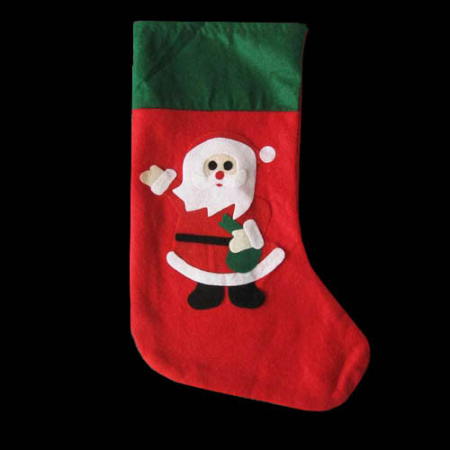 Новогодний носок, сапожок Дед Мороз 35х23 см