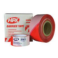 HPX Стрічка бар'єрна 50мм*100м біло-червона B50100
