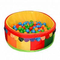 Сухой бассейн для дома с шариками 100х40х5 см