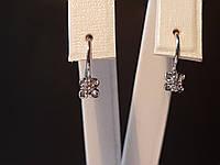 Серебряные серьги с фианитами. Артикул ДС036с, фото 1