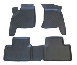 Полиуретановые коврики в салон ВАЗ 2110-12 серые (L.Locker)