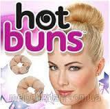 Заколка для создания прически (валик для волос) Hot Buns (Хот Банс) (Арт. 1577) коричневый