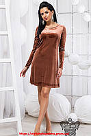 Стильное платье клеш