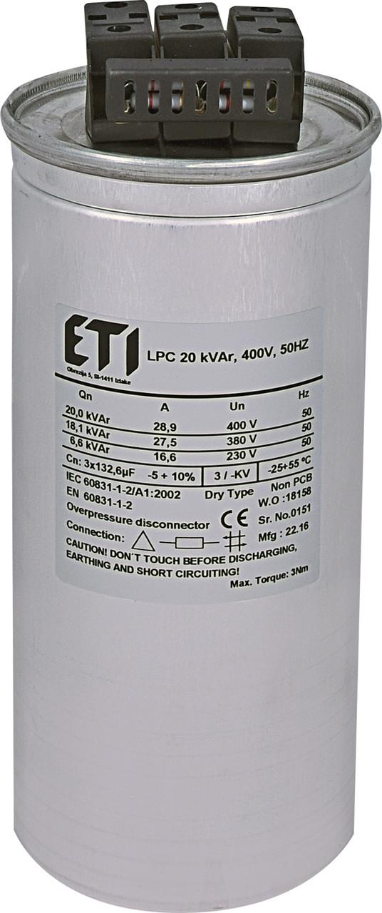 Конденсаторна батарея ETI LPC 20 кВАр 400V 50Hz (4656753)