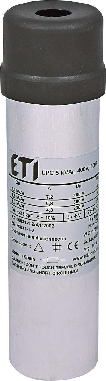 Конденсаторна батарея ETI LPC 5 кВАр 400V 50Hz (4656705)