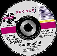 Диск з алюм. 125x1.2х22.2 Dronco
