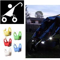 Габаритный фонарь для детской коляски, рюкзака, инвалидного кресла, велосипеда, фото 1