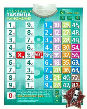 Говорящая таблица умножения Знаток