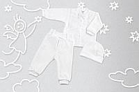 Комплект крестильный для мальчика Орхидея Рубашка с коротким рукавом+штанишки+шапочка, Интерлок, Бежевый