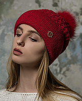 Вязаная теплая шапка Фея