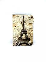 Кожаная кредитница на кнопке Париж