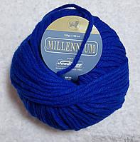 Пряжа шерсть акрил ярко-синего цвета
