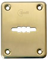 Декоративная накладка Comit 01 под сувальдный ключ мат латунь