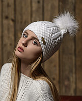 Теплая женская шапка Клевер