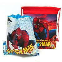 """Мешок для обуви """"Spider-Man"""" 35*28см. флизелин (микс 2 шт.)"""