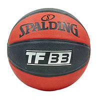 Мяч баскетбольный резиновый №7 SPALDING TF-33 73831Z