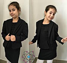 Пиджак подростковый с бантом 140.146.152см, фото 3