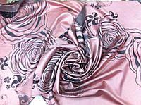 Кашемировый палантин гобилен двухсторонний с рисунком