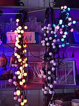 Новогодняя гирлянда Нитка 8м  50 ламп в ассортименте